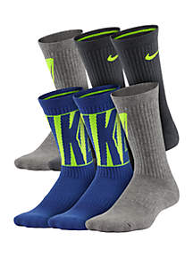 Nike® Boys 8-20 Performance Cushioned Crew Training Socks
