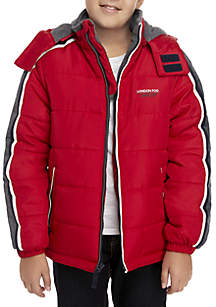 Boys 8-20 Stripe Sleeve Puffer Jacket