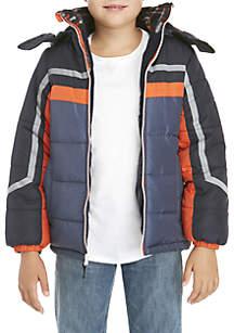 Boys 8-20 Colorblock Stripe Puffer Jacket