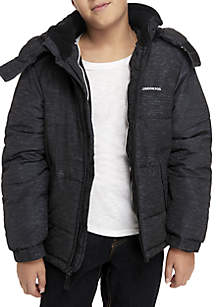 Boys 8-20 Grey Stripe Puffer Jacket