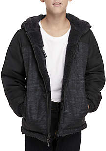 Boys 8-20 Teddy Reversible Jacket
