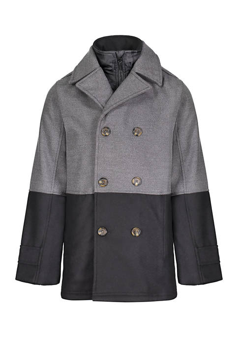 London Fog® Boys 4-7 Two Tone Peacoat