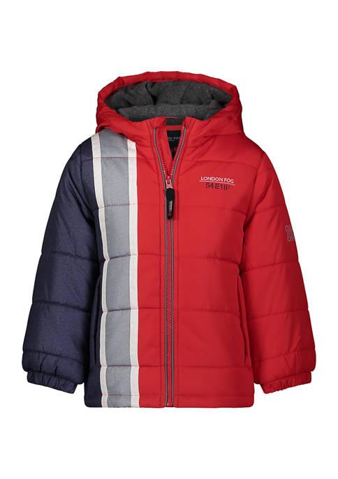 Boys 4-7 Side Stripe Puffer Jacket