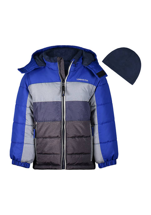 Boys 4-7 Color Block Puffer Jacket