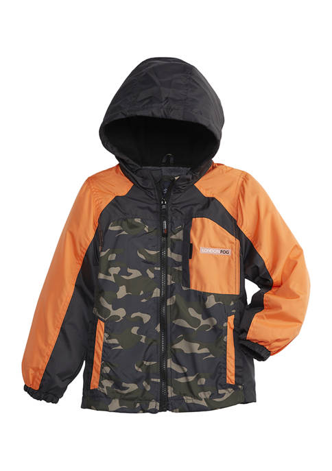London Fog® Boys 4-7 Orange Color Block Windbreaker