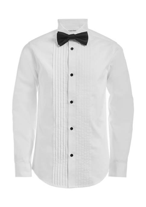 Calvin Klein Boys 8-20 Boxed Tuxedo Shirt and
