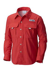 Columbia Boys 4-20 PFG Bahama Nylon Long Sleeve Shirt