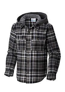 Boys 8-20 Boulder Ridge Hooded Flannel