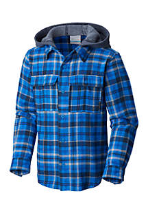 Columbia Boys 8-20 Boulder Ridge Hooded Flannel