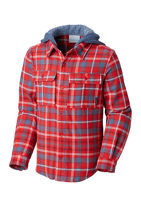 Columbia Boys 8-20 Boulder Ridge Hooded Flannel