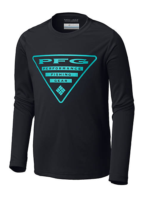 Columbia Boys 8-20 PFG Triangle Long Sleeve Tee