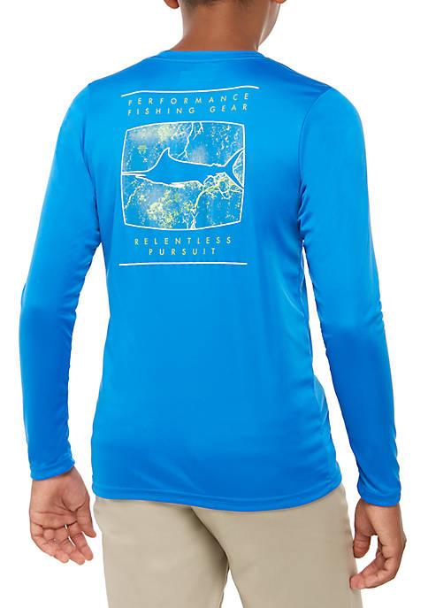Columbia Boys 8-20 Long Sleeve PFG Marlin T