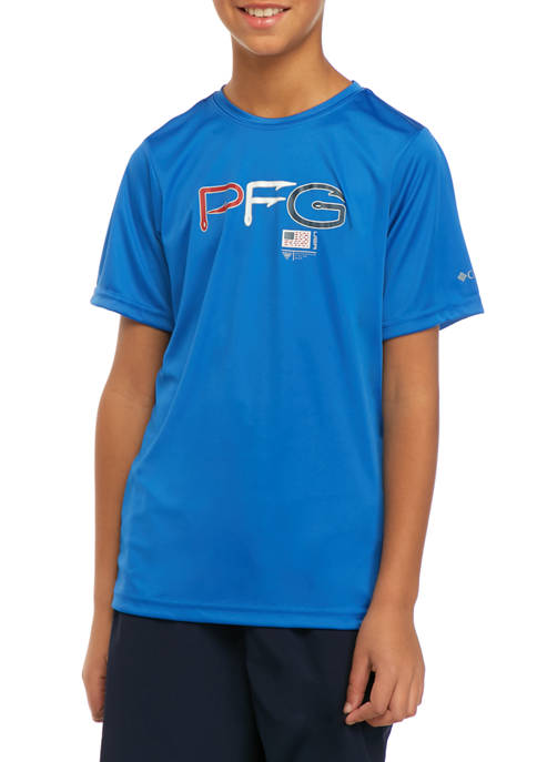 Columbia Boys 8-20 PFG™ Finatic Short Sleeve Graphic