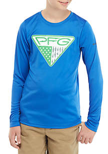 Columbia Boys 8-20 TERMINAL TACKLE™ Triangle Fill Long Sleeve Tee