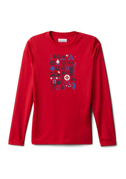 Columbia Boys 8-20 Long Sleeve Graphic T-Shirt