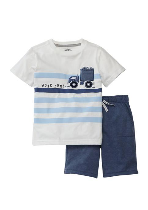 Kids Headquarters Boys 4-7 2 Piece Graphic Shirt