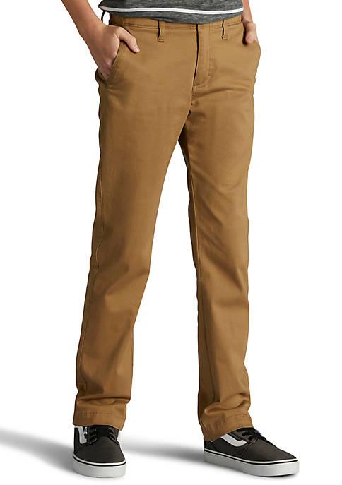 X-Treme Comfort Slim Fit Khaki Pants Boys 8-20 Husky