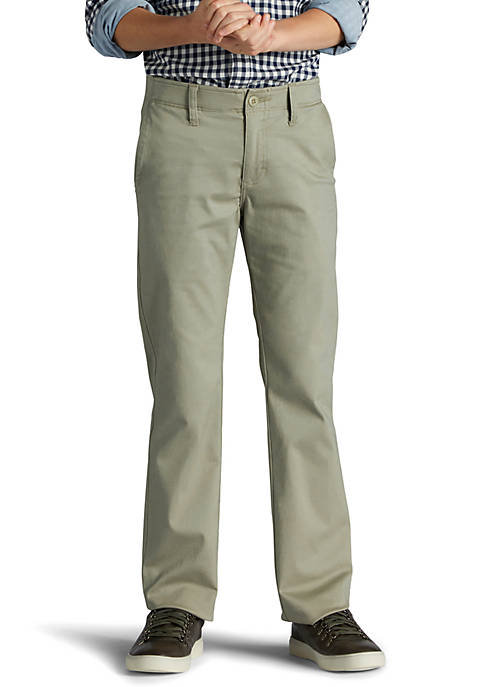X-Treme Comfort Slim Fit Chino Khaki Pants Boys 8-20