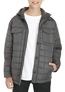 Boys 8-20 Quilted Shirt Jacket
