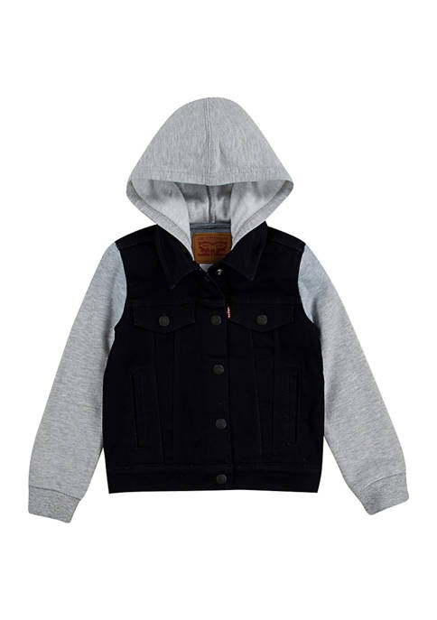 Levi's® Boys 4-7 Button Up Vested Hoodie
