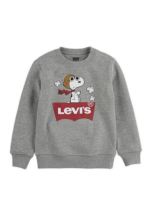 Levi's® Boys 4-7 Snoopy Pilot Graphic Crew Neck