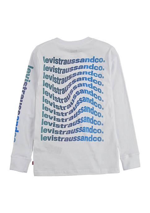 Levi's® Boys 4-7 Long Sleeve Warped Logo Graphic