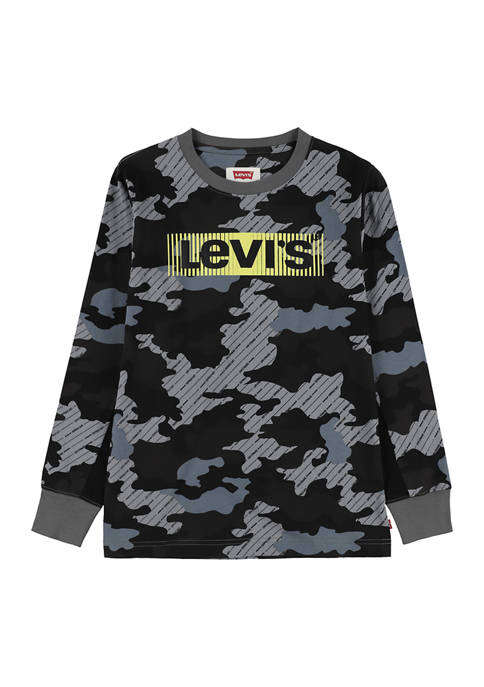 Boys 4-7 Camouflage Print Graphic T-Shirt