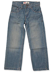 505? Slim Regular Denim Blue Jeans Boys 4-7