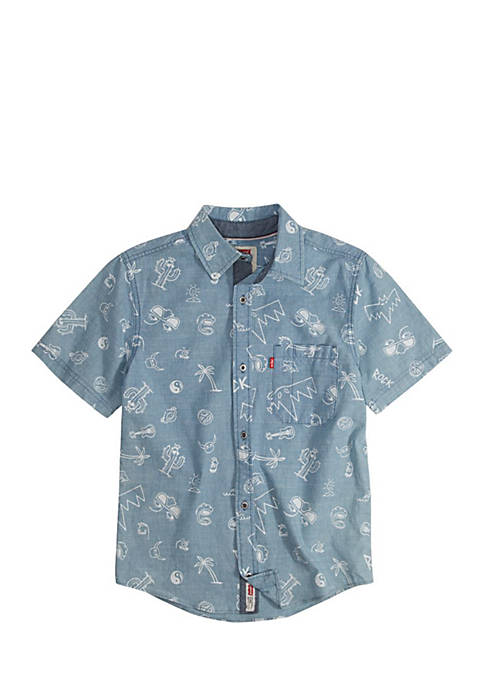 Levi's® Short Sleeve Smith Woven Shirt Boys 8-20