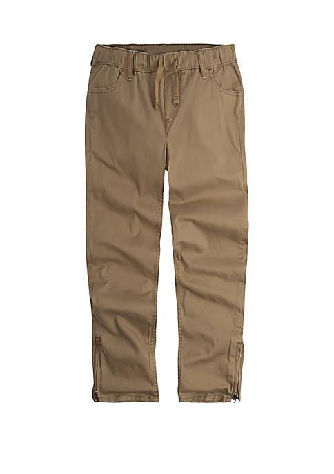 Boys 8-20 Twill Zipper Hem Pull On Pants
