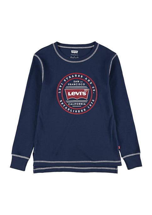 Levi's® Boys 8-20 Waffle Knit Logo Graphic T-Shirt
