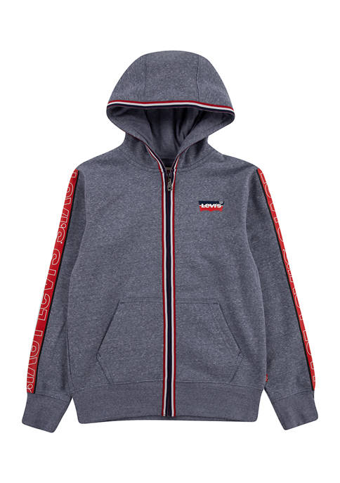 Boys 8-20 Vertical Stripe Zip Up Jacket