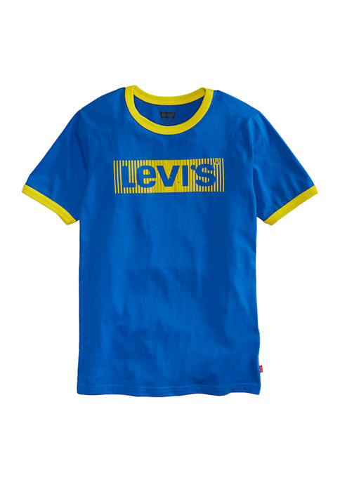 Levi's® Boys 8-20 Short Sleeve Graphic Ringer T-Shirt