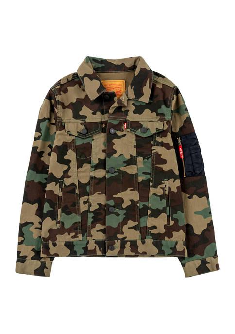 Levi's® Boys 8-20 Camouflage Print Bomber Trucker Jacket