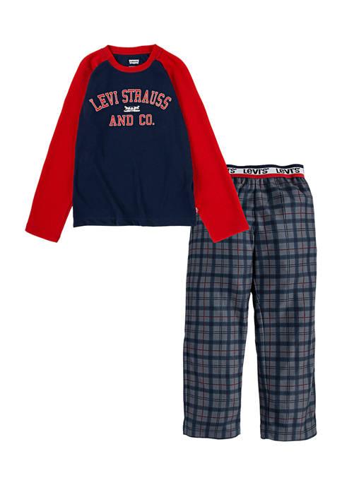 Boys 4-14 Plaid Pajama Set