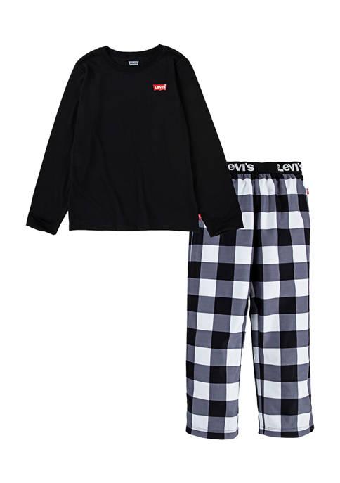 Levi's® Boys 4-14 Checkered Pajama Set