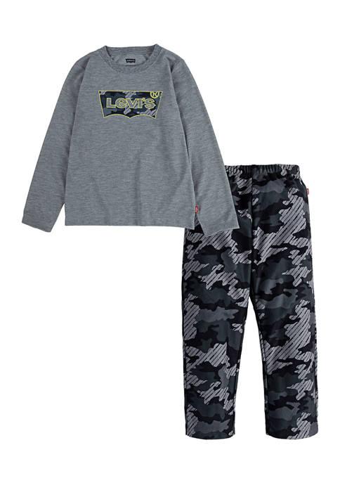 Boys 4-14 Camouflage Pajama Set