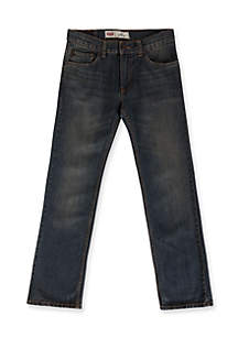 505 Regular Blue Jeans For Boys 8-20