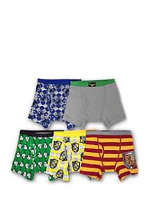 Harry Potter Boys 4-8 5 Pack Boxer Brief Set