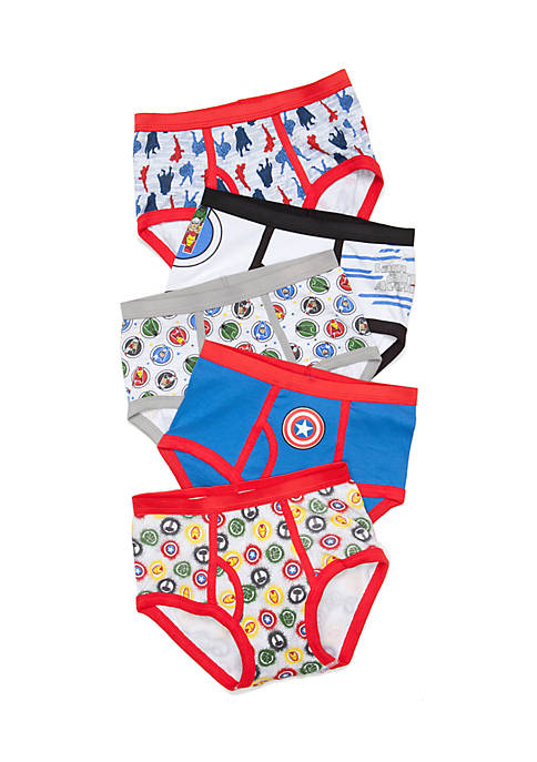 5-Pack Avengers Characters Underwear Boys 4-7