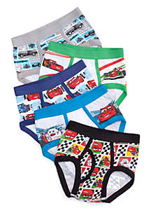 Boys 4-8 Cars Underwear Set