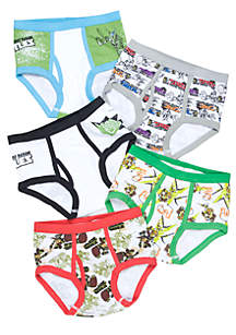 5-Pack Teenage Mutant Ninja Turtle Underwear Boys 4-7