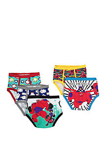 Big Hero 6 Boys 4-8 5 Pack Underwear Set