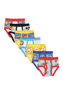 Daneil Tiger Toddler Boys 7 Pack Briefs Set