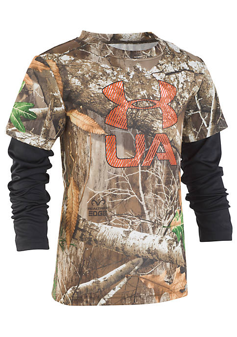 Under Armour® Boys 2-7 Real Tree Slider Shirt