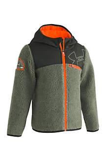 Boys 4-7 Hooded Sherpa Fleece Jacket