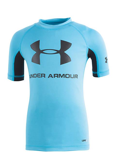 Under armour ua compression short sleeve swim rashguard for Under armour swim shirt