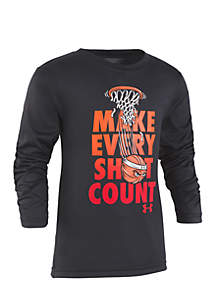 Boys 2-7 Make Every Shot Count Long Sleeve Tee