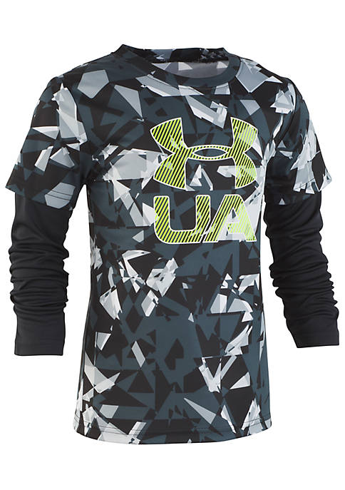Under Armour® Boys 2-7 Fractured Logo Slider Tee