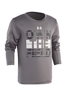 Under Armour® Boys 2-7 Own the Field Long Sleeve Tee